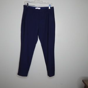 everlane women navy blue wool pant SZ 6